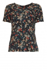 Set |  Floral top Fee | black  | Picture 1