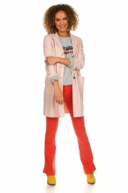 Set |  Long tricot blazer Mandy | pink  | Picture 3