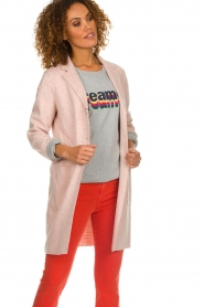Set |  Long tricot blazer Mandy | pink  | Picture 2