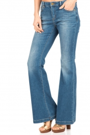 MICHAEL Michael Kors | Flared jeans Orlando | blauw  | Afbeelding 2