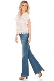 MICHAEL Michael Kors | Flared jeans Orlando | blauw  | Afbeelding 3
