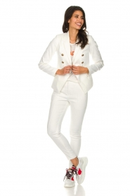 Set |  Classic trousers Gina | white  | Picture 3