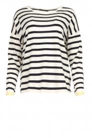 Set |  Striped sweater Tara | white  | Picture 1