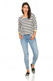 Set |  Striped sweater Tara | white  | Picture 3