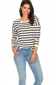 Set |  Striped sweater Tara | white  | Picture 2
