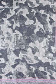 Becksöndergaard | Sjaal met zilveren legerprint | zilver  | Afbeelding 4