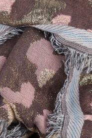 Becksöndergaard | Sjaal met gouden legerprint | goud  | Afbeelding 3