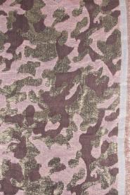 Becksöndergaard | Sjaal met gouden legerprint | goud  | Afbeelding 4
