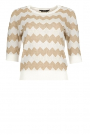 Set |  Zigzag print sweater Zinzi | white  | Picture 1