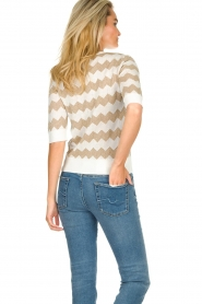 Set |  Zigzag print sweater Zinzi | white  | Picture 5
