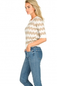 Set |  Zigzag print sweater Zinzi | white  | Picture 4