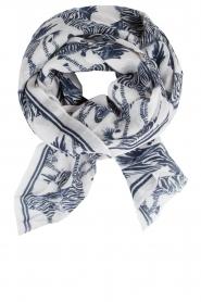 Becksöndergaard | Sjaal met zebra's | donkerblauw  | Afbeelding 1