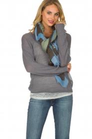 Becksöndergaard | 100% Katoenen sjaal met print | lichtgroen  | Afbeelding 2