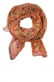 Becksöndergaard | Sjaal met kleurrijke bloemenprint| multi  | Afbeelding 2
