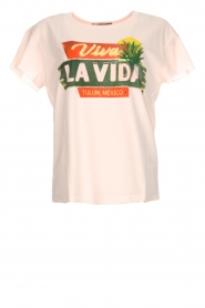Set |  T-shirt with print Colada | pink  | Picture 1