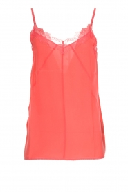 Set |  Silk sleeveless top with lace Mees | pink  | Picture 1