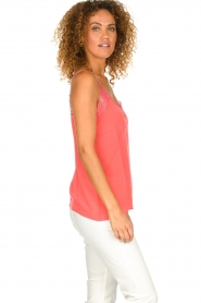 Set |  Silk sleeveless top with lace Mees | pink  | Picture 3