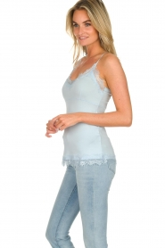 Set |  Silk sleeveless top with lace Mees | blue  | Picture 3