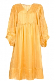 Rabens Saloner |  Striped dress Elly | yellow  | Picture 1