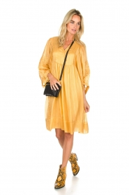 Rabens Saloner |  Striped dress Elly | yellow  | Picture 3