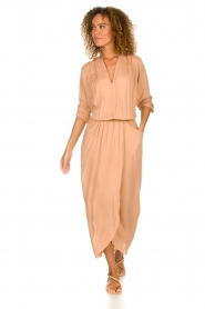 Rabens Saloner |  Maxi dress Marinne | nude  | Picture 3
