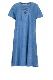 Rabens Saloner | Terry dress Molly | blue  | Picture 1