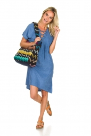 Rabens Saloner | Terry dress Molly | blue  | Picture 3