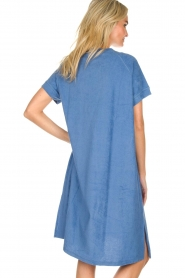 Rabens Saloner | Terry dress Molly | blue  | Picture 5