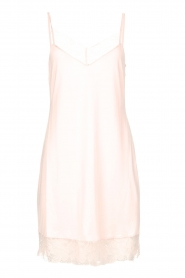Hanro |  Slip dress with lace Fleur | pink  | Picture 1