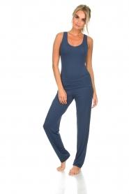 Hanro | Yoga top Ella | blauw  | Afbeelding 3