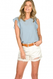 Articles of Society | Denim short Meredith | white  | Picture 4