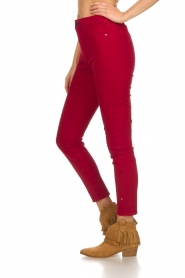 Articles of Society |  High rise skinny jeans Heather | red  | Picture 4