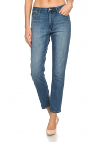 Articles of Society | High straight leg jeans Isabella | blauw  | Afbeelding 3