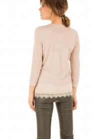 Wool top Seline | pink