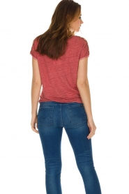 Not Shy |  Linen t-shirt Elisabeth | red  | Picture 6