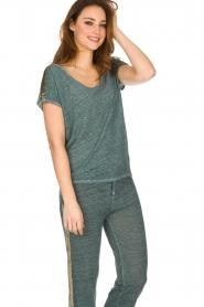 Not Shy   Linnen t-shirt Elisabeth   blauw    Afbeelding 2