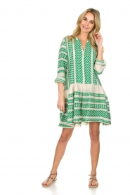 Devotion |  Printed dress Mirah | green  | Picture 3