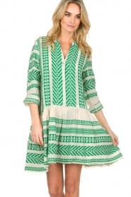 Devotion |  Printed dress Mirah | green  | Picture 4
