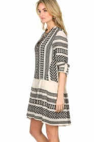 Devotion |  Printed dress Mirah | black & white  | Picture 4
