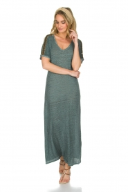 Not Shy |  Linen dress Anna |  blue  | Picture 2