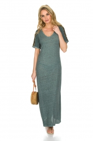 Not Shy |  Linen dress Anna |  blue  | Picture 3