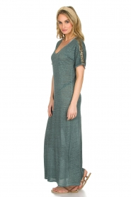 Not Shy |  Linen dress Anna |  blue  | Picture 4