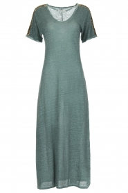 Not Shy |  Linen dress Anna |  blue  | Picture 1