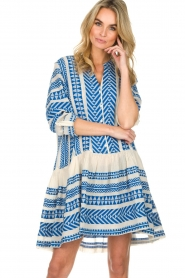 Devotion |  Printed dress Mirah | blue  | Picture 2