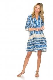 Devotion |  Printed dress Mirah | blue  | Picture 3