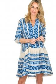 Devotion |  Printed dress Mirah | blue  | Picture 4