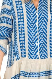 Devotion |  Printed dress Mirah | blue  | Picture 5