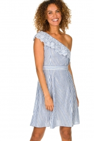 Freebird | Off-shoulder dress Britney | blue  | Picture 2