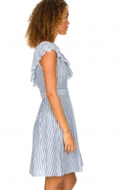 Freebird | Off-shoulder dress Britney | blue  | Picture 4
