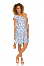 Freebird | Off-shoulder dress Britney | blue  | Picture 3